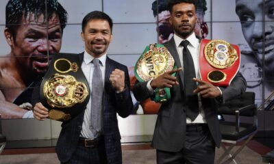 Pacquiao-Spence meet at pre-fight press con to officially announce fight