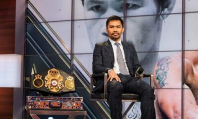 Pacquiao shooting shots at Mayweather ahead of Spence fight