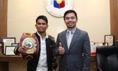 Casimero, Pacquiao train at Wild Card Gym ahead of respective fights