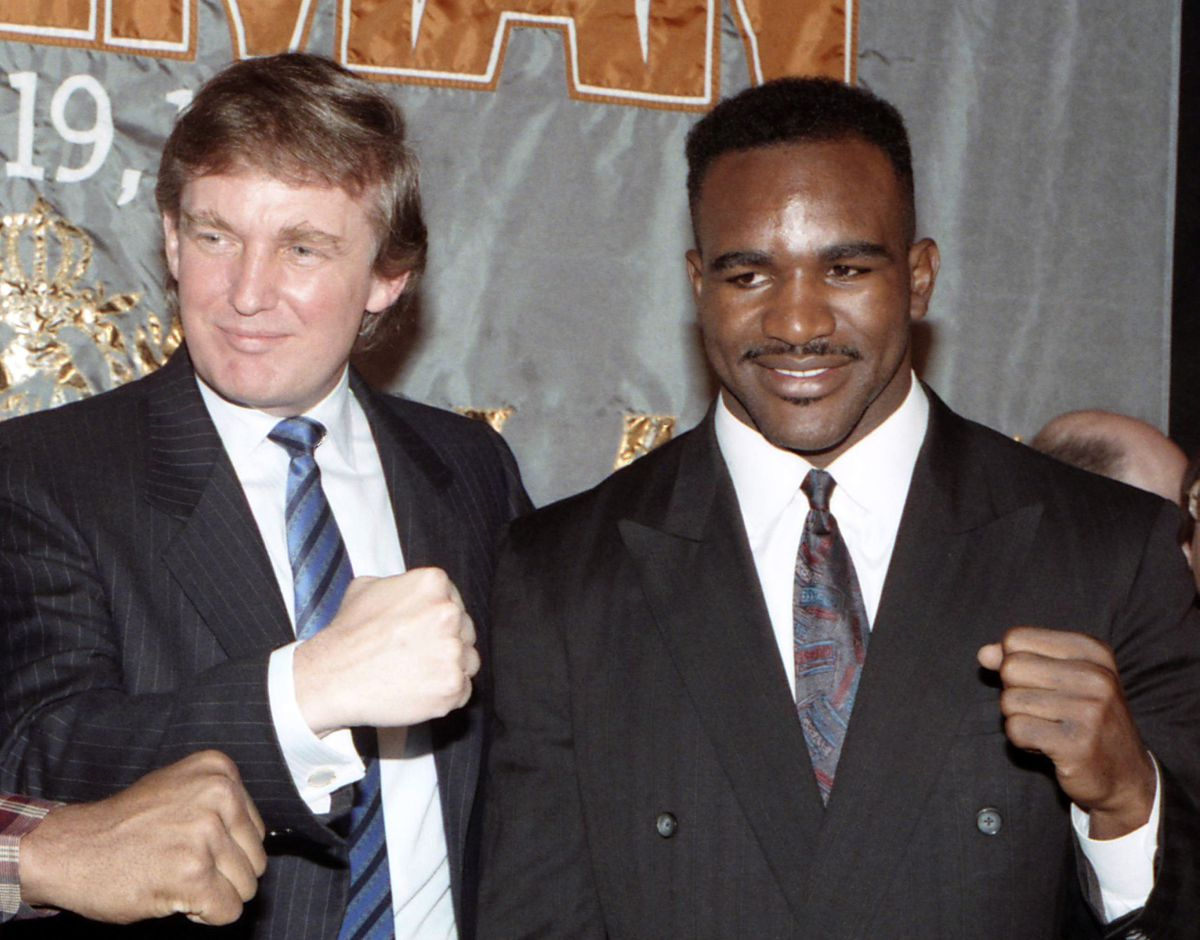 Donald Trump with Holyfield